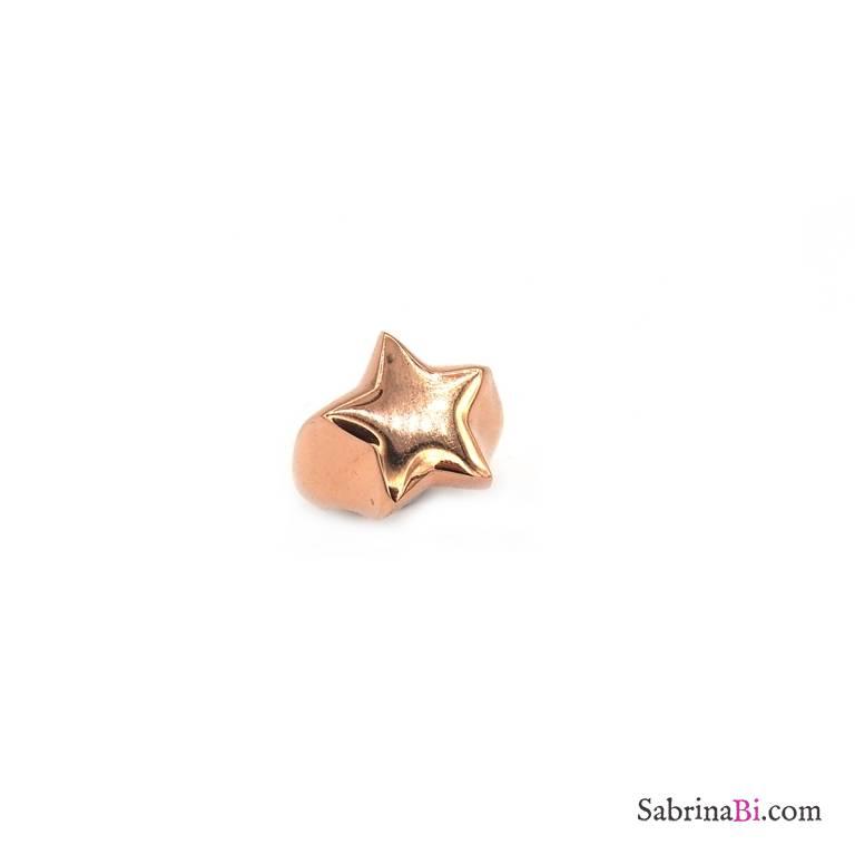 haut fonctionnaire trouver le prix le plus bas prix incroyable Anello fascia regolabile mignolo argento 925 oro rosa Stella