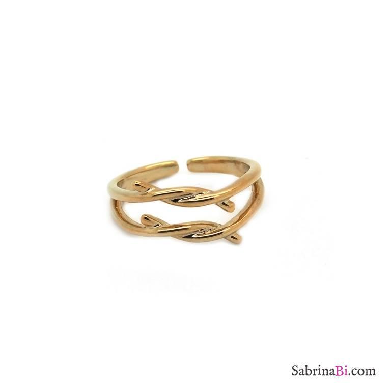 Anello regolabile oro doppio nodo