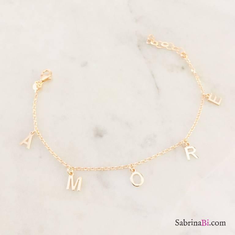 Bracciale Amore argento 925 oro rosa