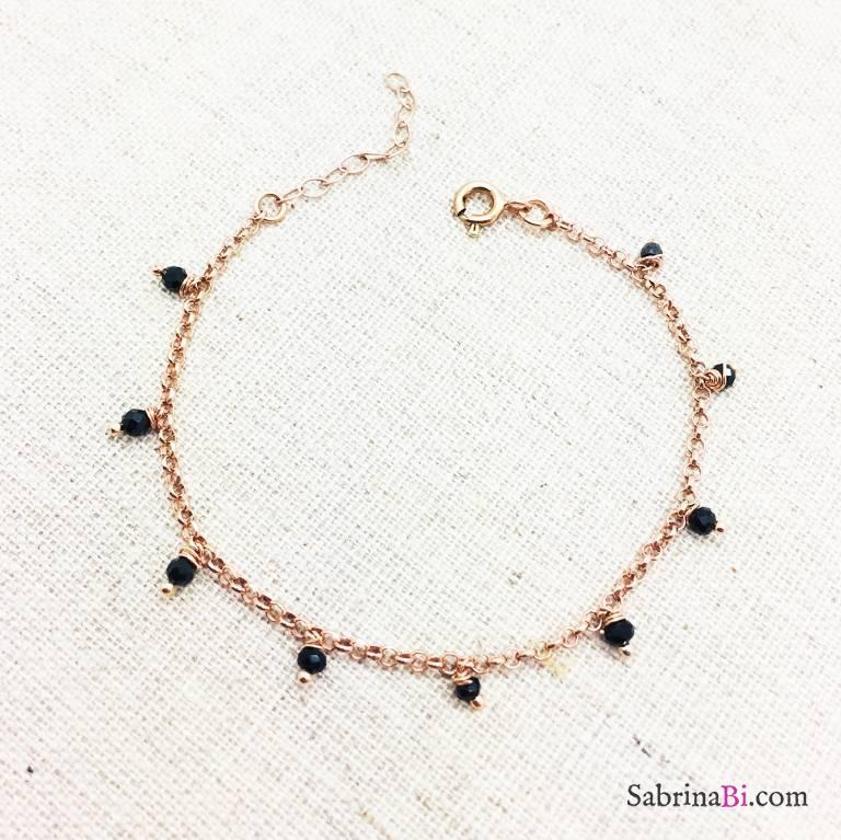 Bracciale argento 925 oro rosa Agnese