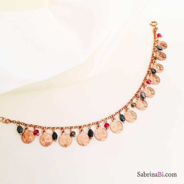 Bracciale argento 925 oro rosa Claire