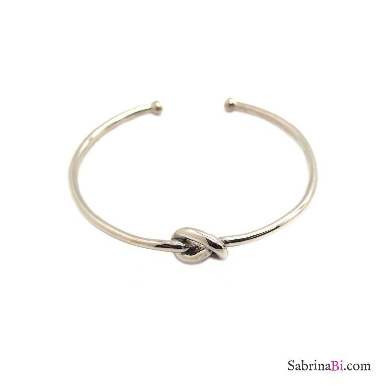 Bracciale rigido bangle argento 925 nodo