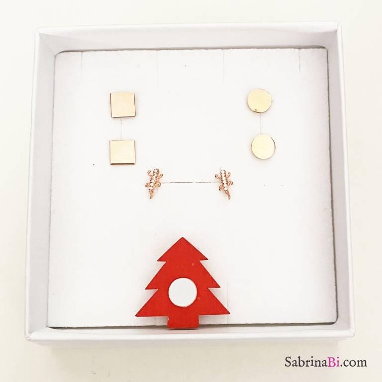 Combo 3 paia orecchini lobo argento 925 oro rosa Minimal
