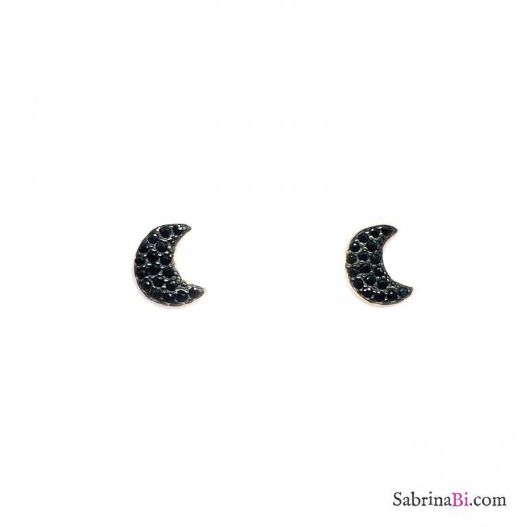 Lobetti argento 925 oro rosa Luna Zirconi neri