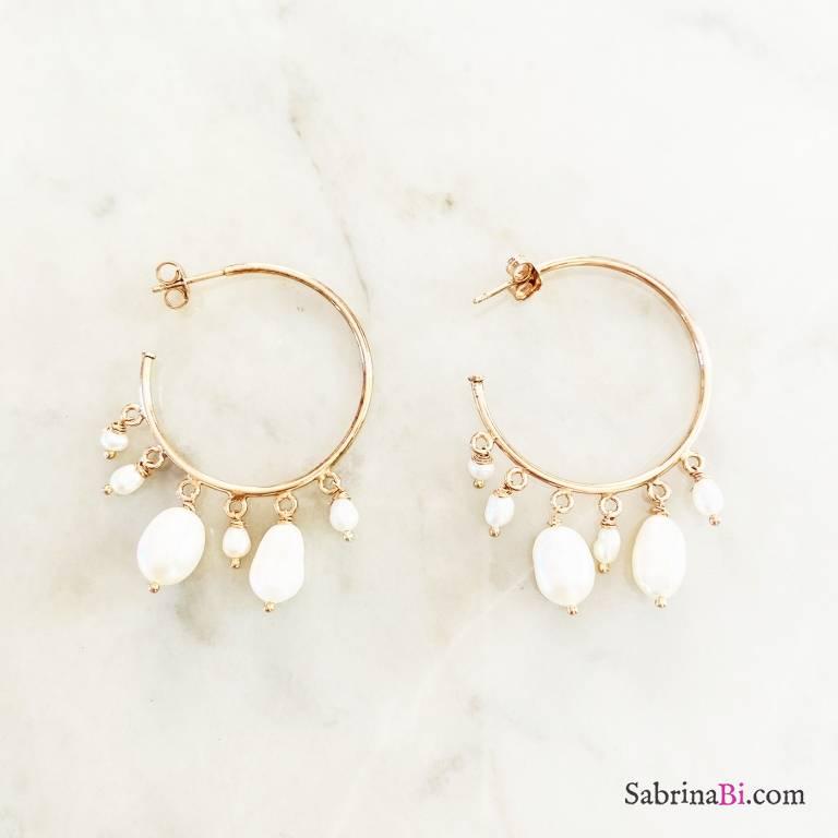 Orecchini mezzo cerchio argento 925 oro rosa Queen