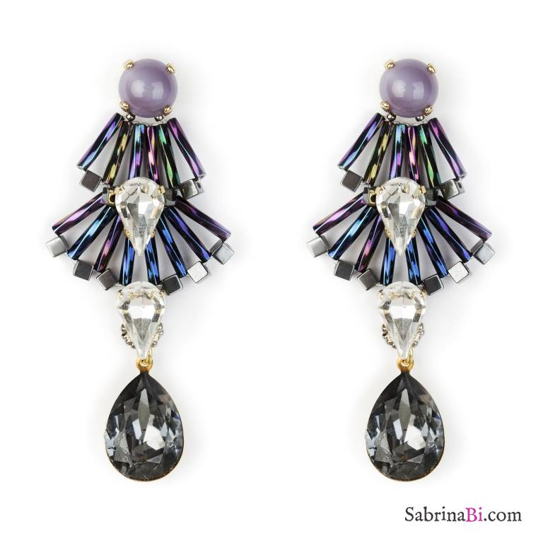 Sparkly crystal Liberty drop earrings