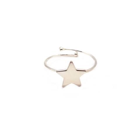 Anello regolabile argento 925 stella piccola
