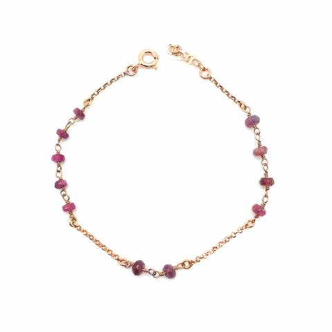 Bracciale argento 925 oro rosa Iris