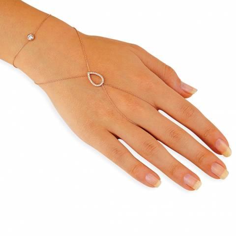 Bracciale Baciamano argento 925 oro rosa Drop brillanti