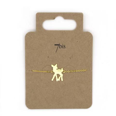 Bracciale oro ciondolo cerbiatto Bambi