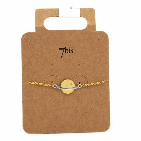 Bracciale oro ciondolo pianeta Saturno
