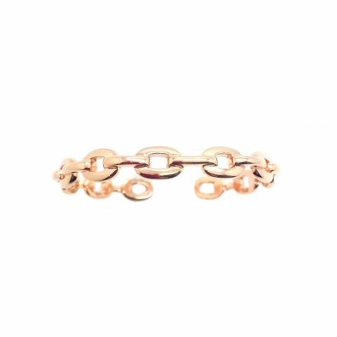 Bracciale rigido bangle argento 925 oro rosa catena