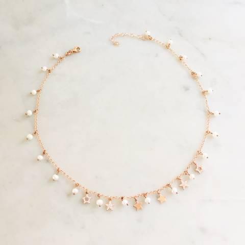 Collana argento 925 oro rosa Miranda