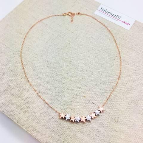 Collana argento 925 oro rosa Selena