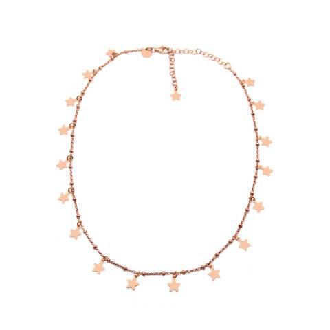 Collana choker girocollo rosario argento 925 oro rosa Tutto Stelle