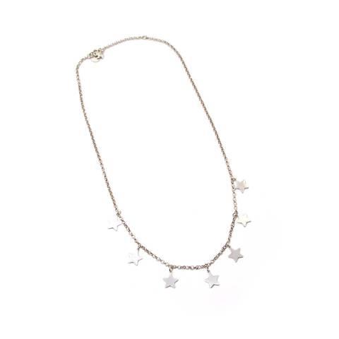 Collana girocollo argento 925 7 stelle pendenti