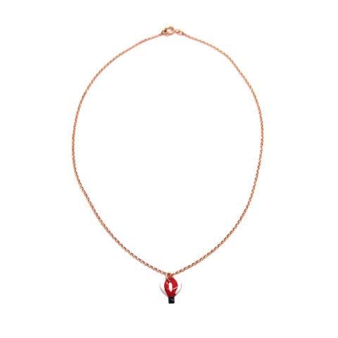 Collana girocollo argento 925 oro rosa Mongolfiera