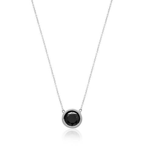 Collana girocollo argento 925 Spinello Nero