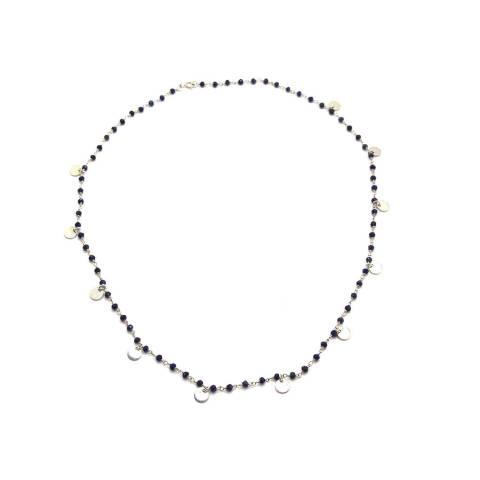 Collana girocollo rosario argento 925 Lapislazzuli Coins