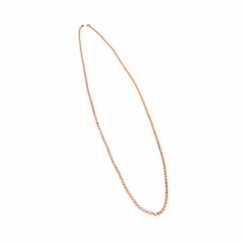 Collana lunga argento 925 oro rosa catena piattine