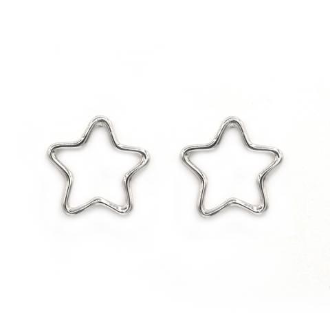 Orecchini a lobo argento 925 sagoma stella