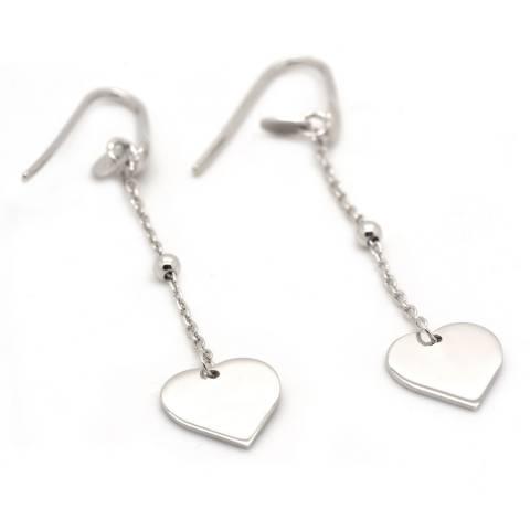 Orecchini pendenti argento 925 cuore