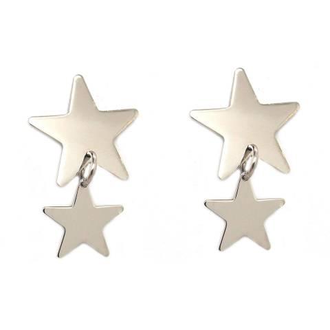 Orecchini pendenti argento 925 doppia stella
