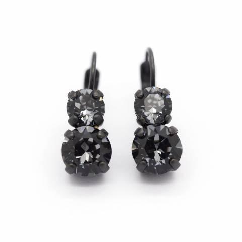 Orecchini pendenti cristalli Swarovski grigi