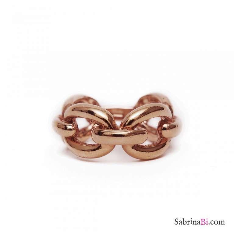 Anello Chain oro rosa