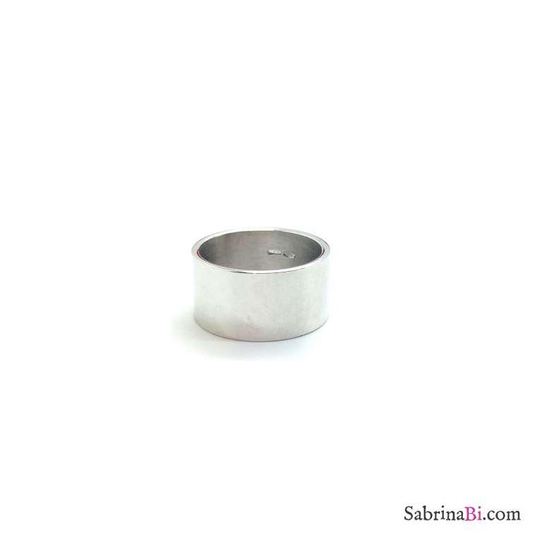 Anello fascia alta argento 925