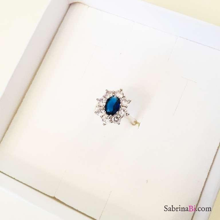 Anello regolabile Kate argento 925 e Zirconi