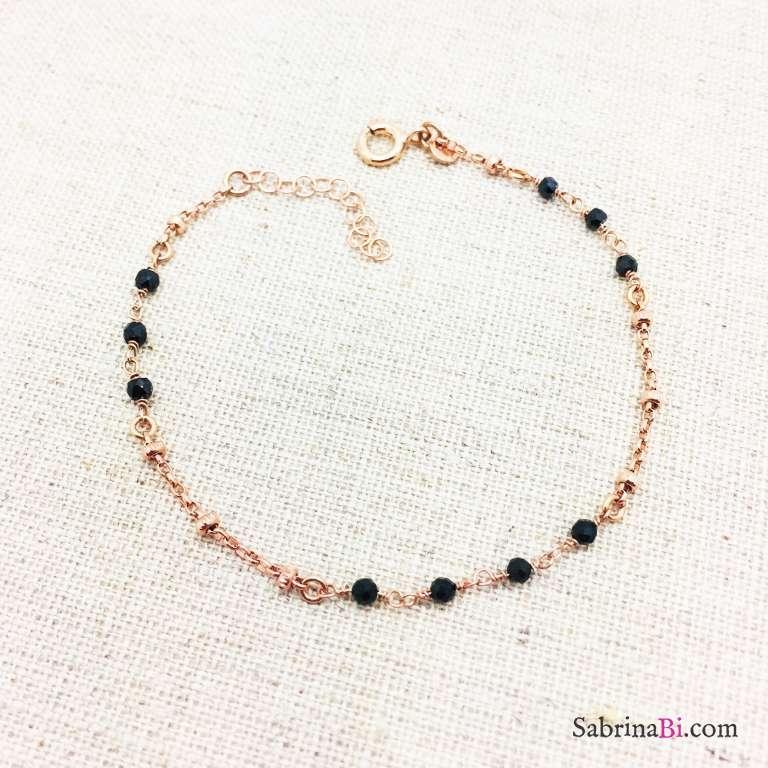 Bracciale argento 925 oro rosa Camilla