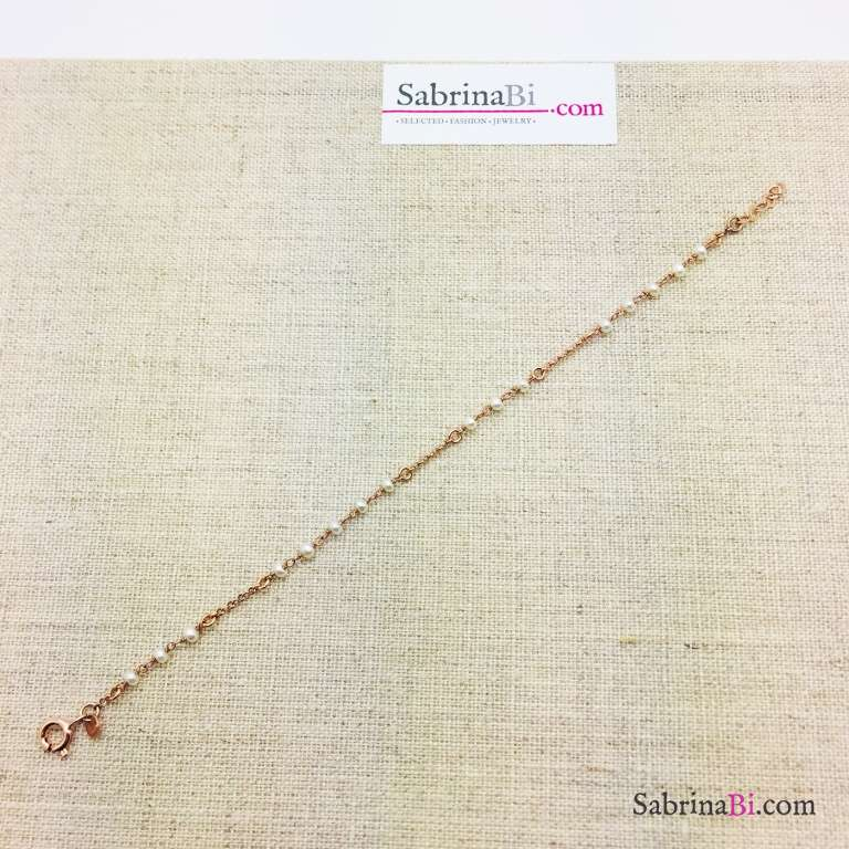 Bracciale argento 925 oro rosa Lucrezia