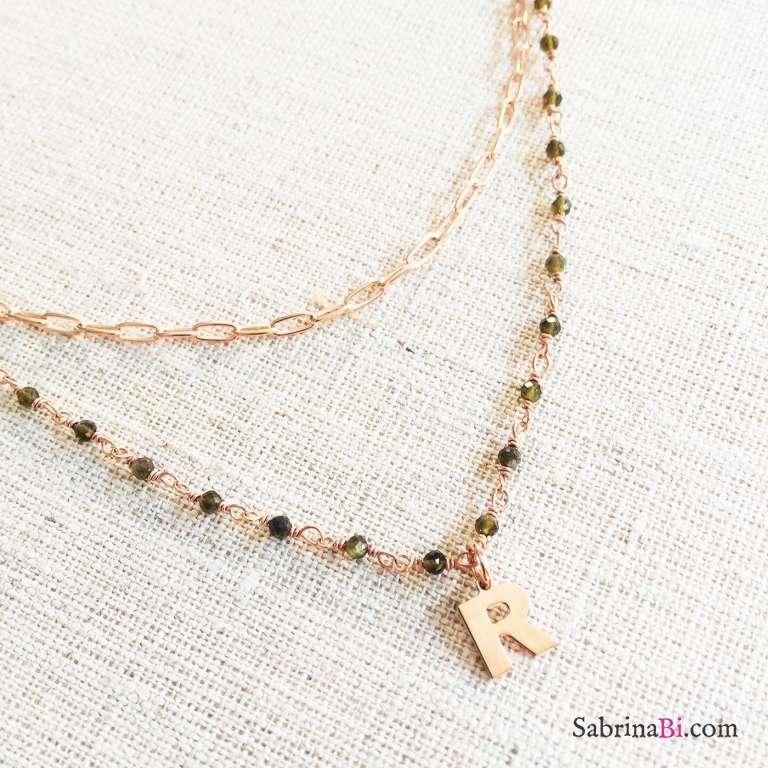 Collana doppia argento 925 oro rosa Clizia