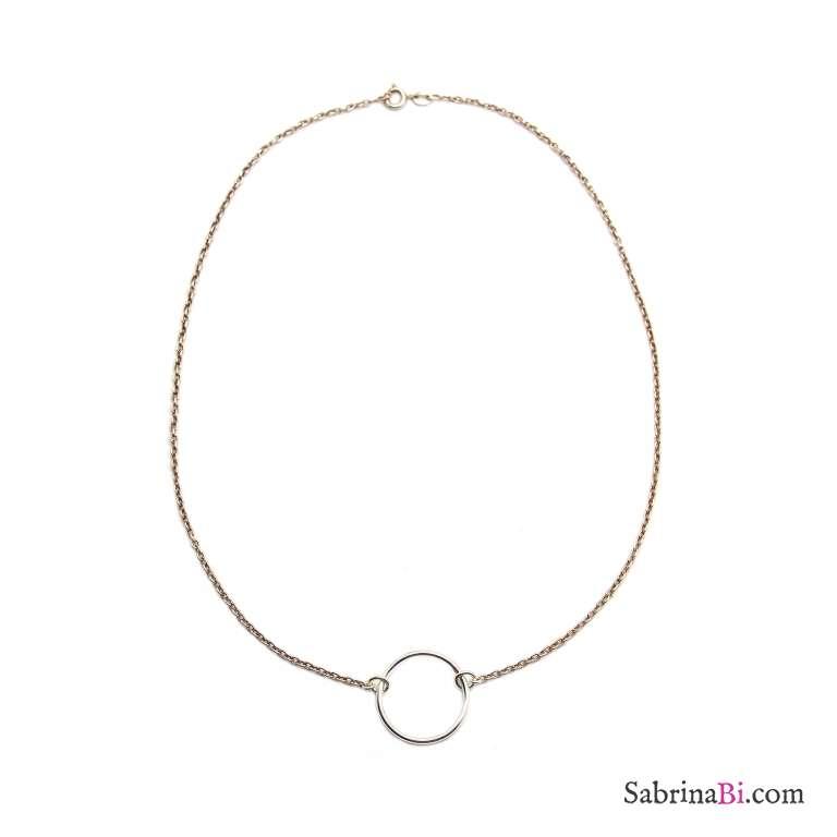 Collana girocollo argento 925 Cerchio