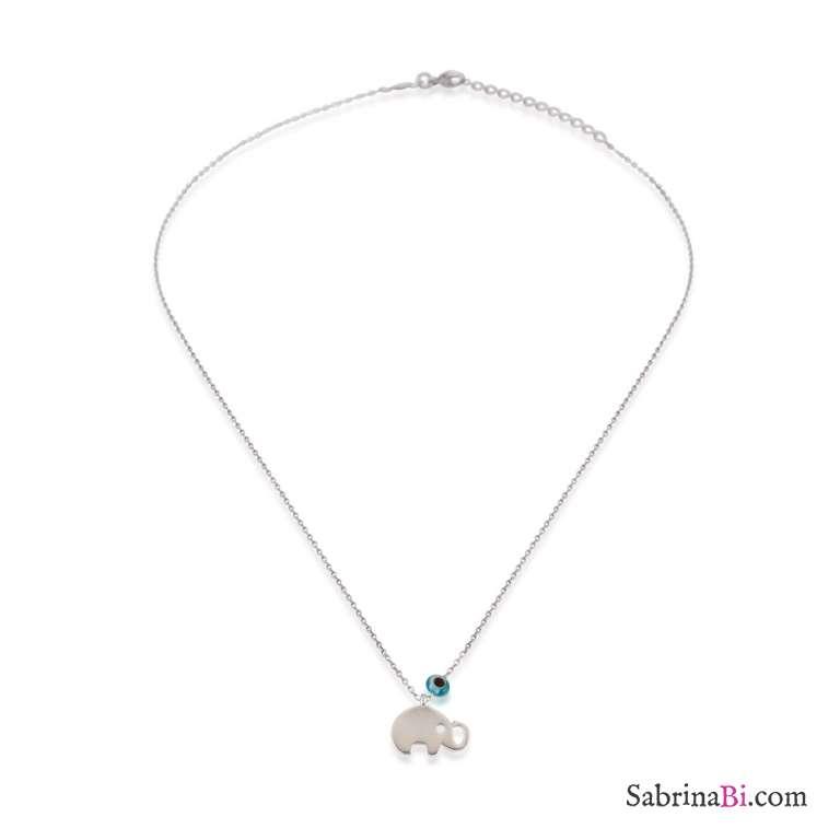 Collana girocollo bambina argento 925 Elefantino