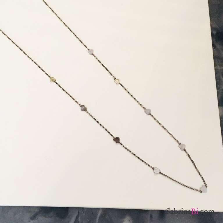Collana lunga argento 925 rodiato Odette