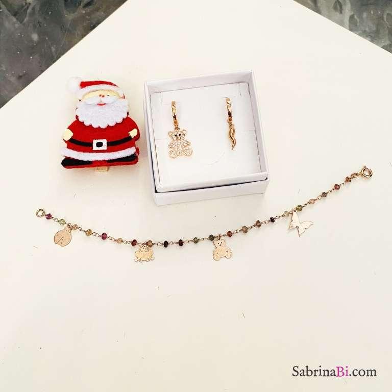 Combo 2 mono orecchini cerchio + bracciale argento 925 oro rosa Animali