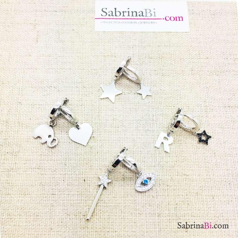 Mono orecchino cerchio 0,80 argento 925 Come-vuoi-tu