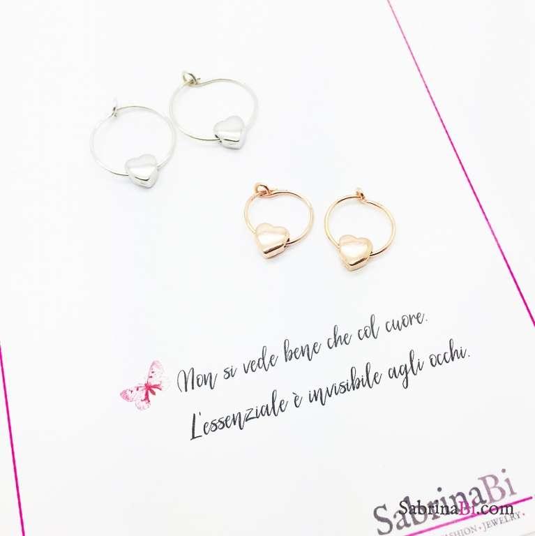 Orecchini a cerchio argento 925 Love you
