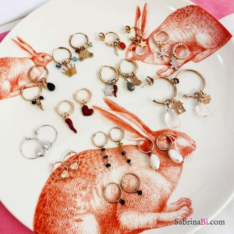 Orecchini a cerchio argento 925 oro rosa Minimal