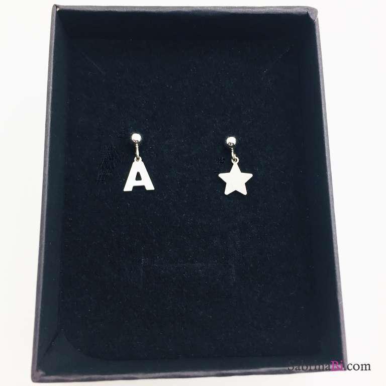 Orecchini argento 925 Lettera e stella