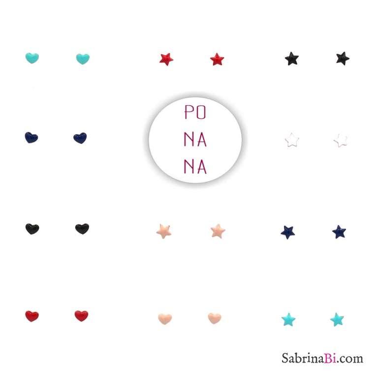 Orecchini lobo argento 925 oro rosa cuore smalto verde Tiffany