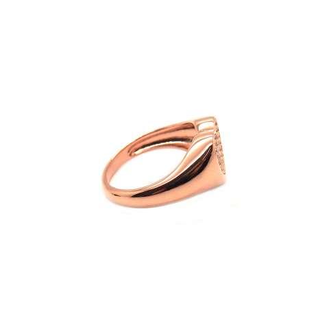 Anello Chevalier argento 925 oro rosa cuore Zirconi