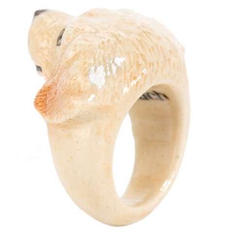 Anello in porcellana cane Labrador Remi tg. M