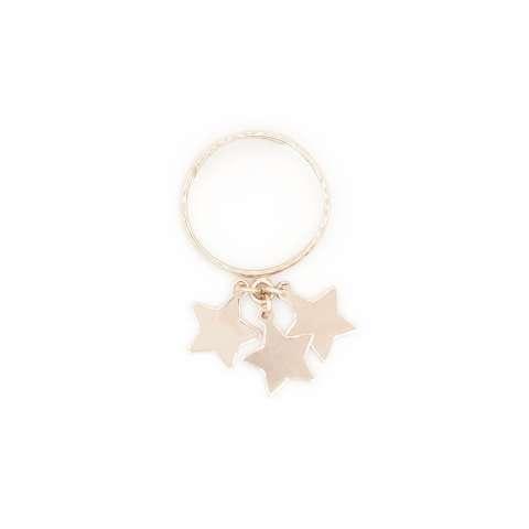 Anello regolabile argento 925 oro rosa 3 Stelle