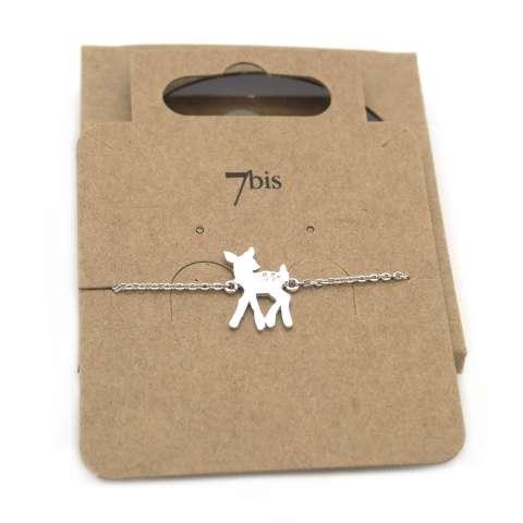 Bracciale argento ciondolo cerbiatto Bambi