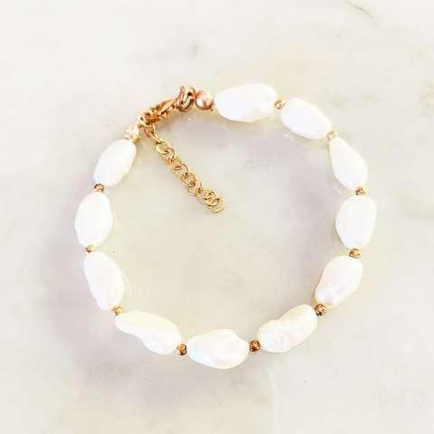 Bracciale perle barocche