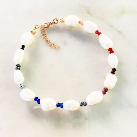 Bracciale perle barocche Rainbow