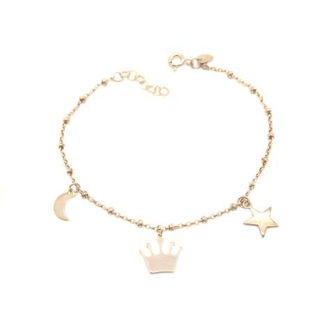 Bracciale rosario argento 925 3 charms